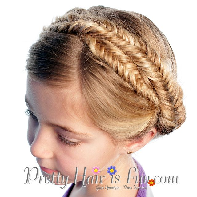 Fishtail Braid Hairstyles New Pretty Hair Is Fun How To Do A Milkmaid Crown Fishtail Braid