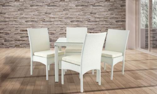 Groupon sedie ~ Tavolo maya con sedie nei colori marrone e ad euro in