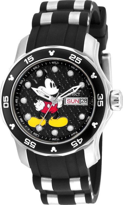 71cab8c5b Invicta 23770 Women's Disney Black Dial Steel & Black Silicone Strap Dive  Watch