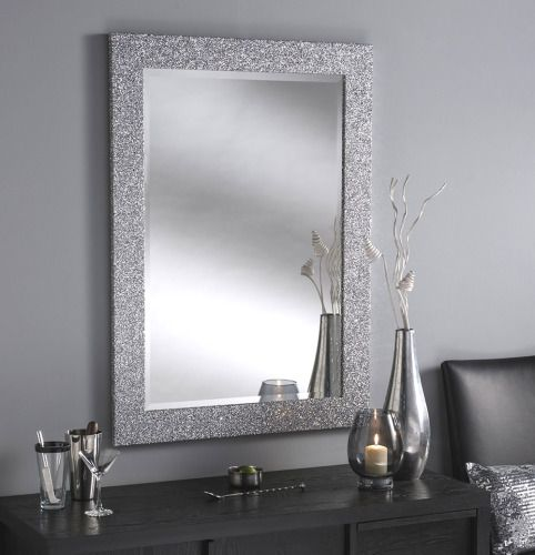Sparkle Glitter Frame Bevelled Mirror 4 Sizes Available Accent Mirrors Glitter Bathroom Mirror