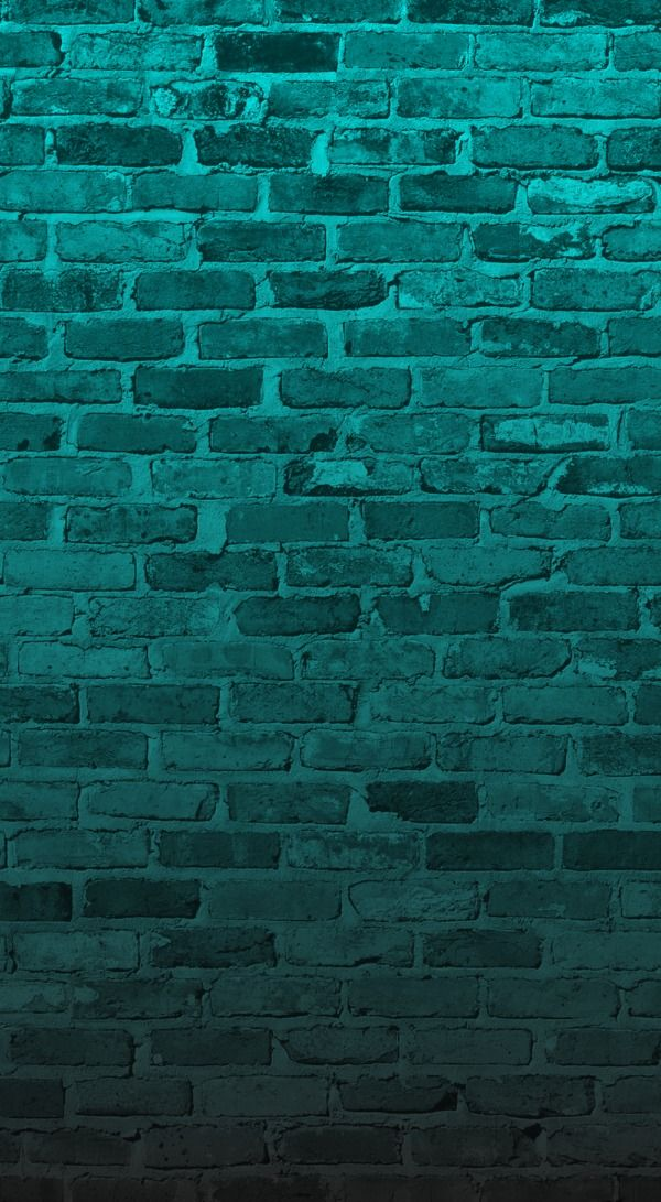 Teal brick wall iphone wallpaper background phone lock screen