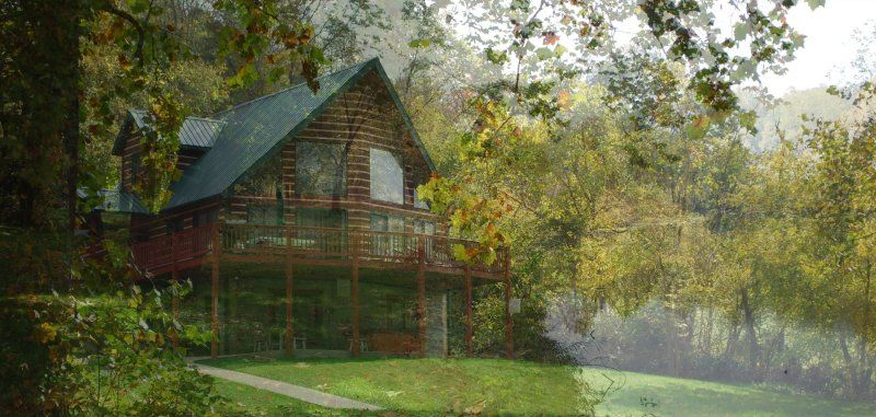 Papa Bearu0027s River Cabin, Shenandoah River, Cabin Rental, Luray Virginia,  Secluded Cabin