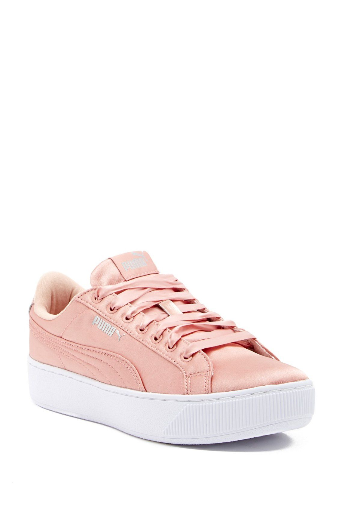 ae94d2620883 Pink Silk PUMA Vikky Platform EP Sneakers