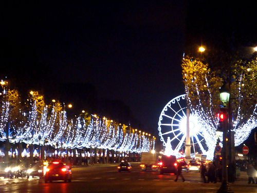 Christmas Market on the Champs Elysees in Paris