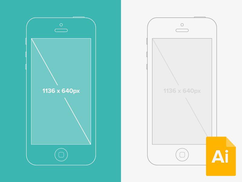 Illustrator Iphone 5 Wireframe Mockup Wireframe Mockup Web App Design Iphone Mockup