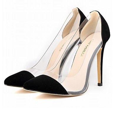 Calçados Femininos - Saltos - Bico Fino - Salto Agulha - Preto / Azul / Amarelo / Verde / Rosa / Roxo / Vermelho / Branco / Bege - Courino – BRL R$ 190,46