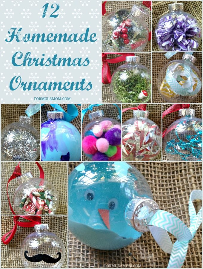 Lovely Clear Christmas Ornaments Craft Ideas Part - 4: 12 Homemade Christmas Ornament Ideas #Christmas #DIY