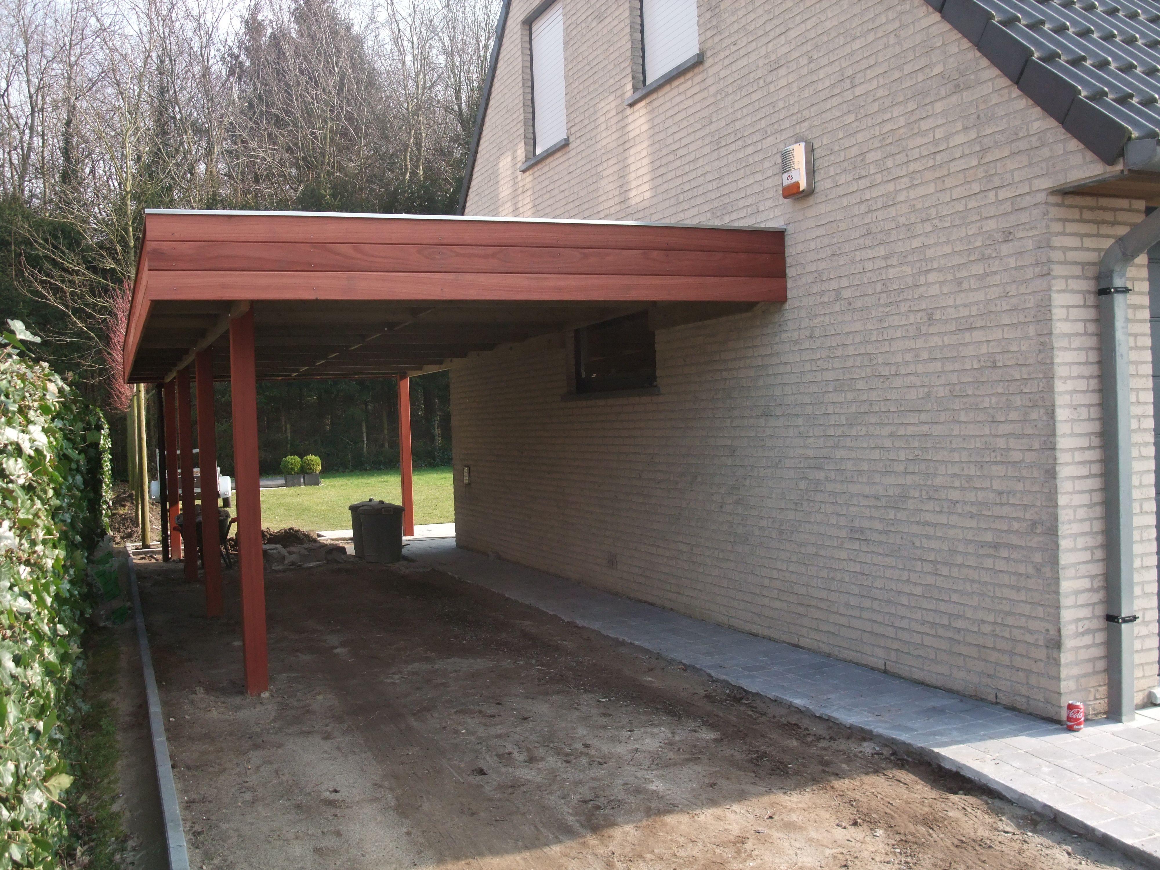 Carport aanbouw carport padouk carport moderne uitvoering tuinhuisjes vermeire