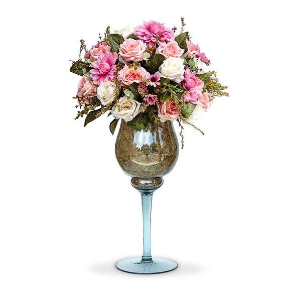 Arranjo De Flores Rosas Mistas Arranjos De Flores Artificiais
