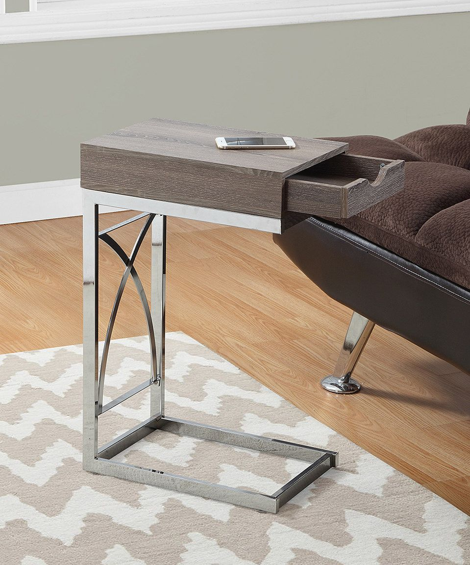 Loving this Dark Taupe One-Drawer Side Table on #zulily! #zulilyfinds