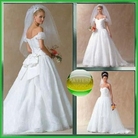 Mccalls 4775 simply elegant wedding dress patterns for Simply elegant wedding dresses