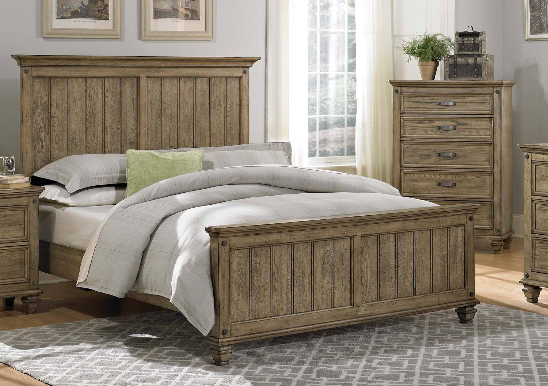 Homelegance Sylvania Bed Driftwood Oak Furniture, King