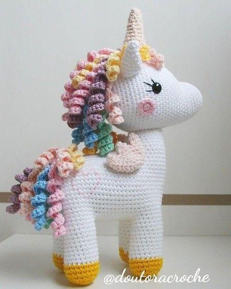 Amigurmi Receitas Unicornio em 2020 | Brinquedos de crochê para ... | 563x450