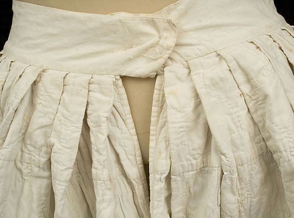18th century antique clothing at Vintage Textile: #1857 quilted petticoat