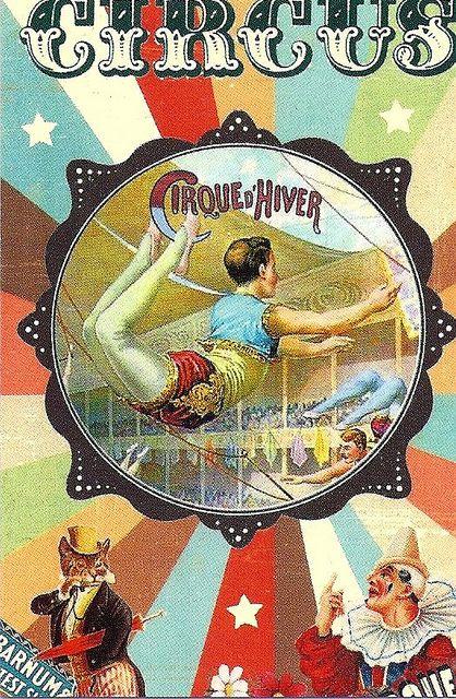 Vintage Circus Poster Acrobat