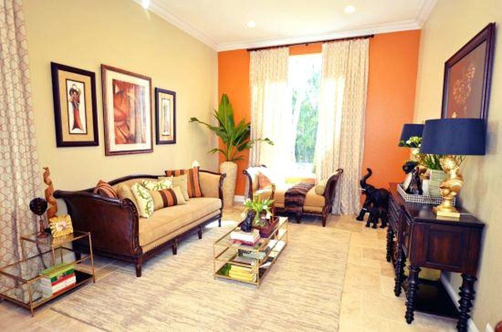 How To Infuse Multiple Accent Colors In A Room Accent Walls In Living Room Living Room Orange Living Room Accents