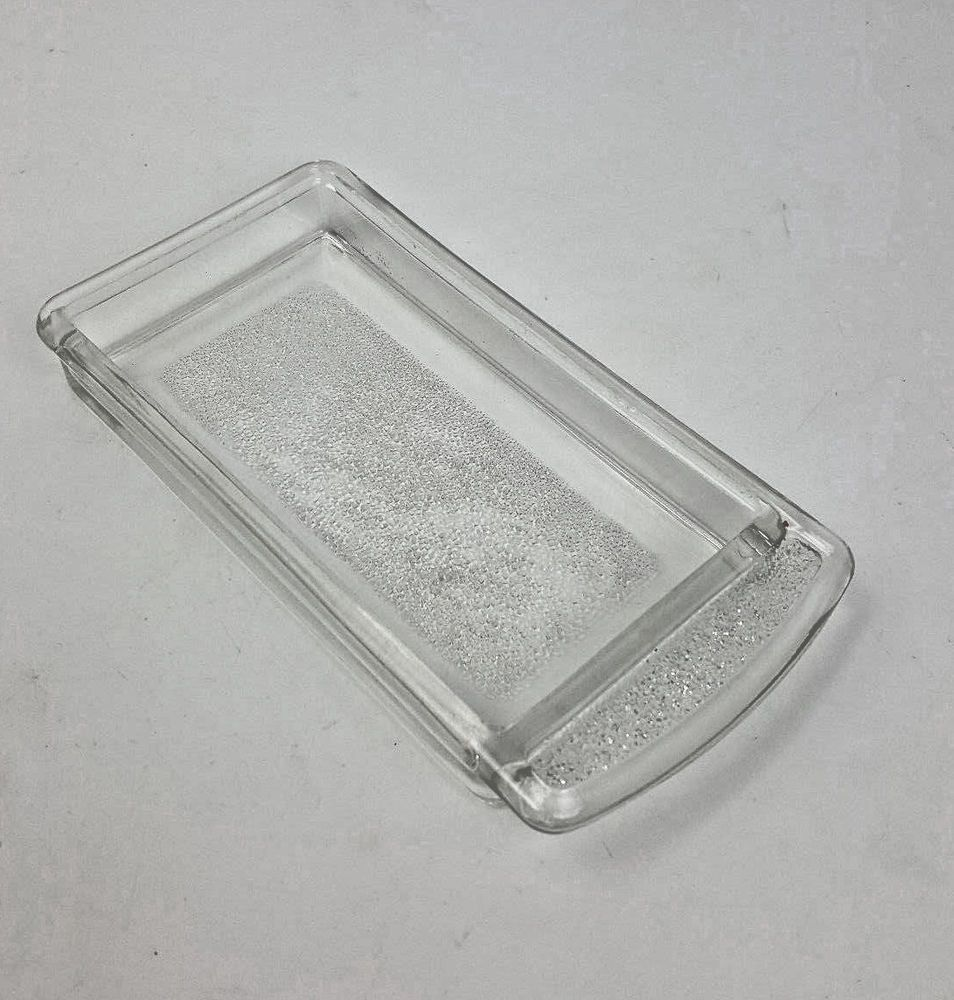 Vintage 1950s Hotpoint glass refrigerator butter tray