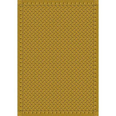 The Conestoga Trading Co Gold Area Rug Rug Size 3 10 X 5 4 Area Rugs Synthetic Rugs Diamond Plate