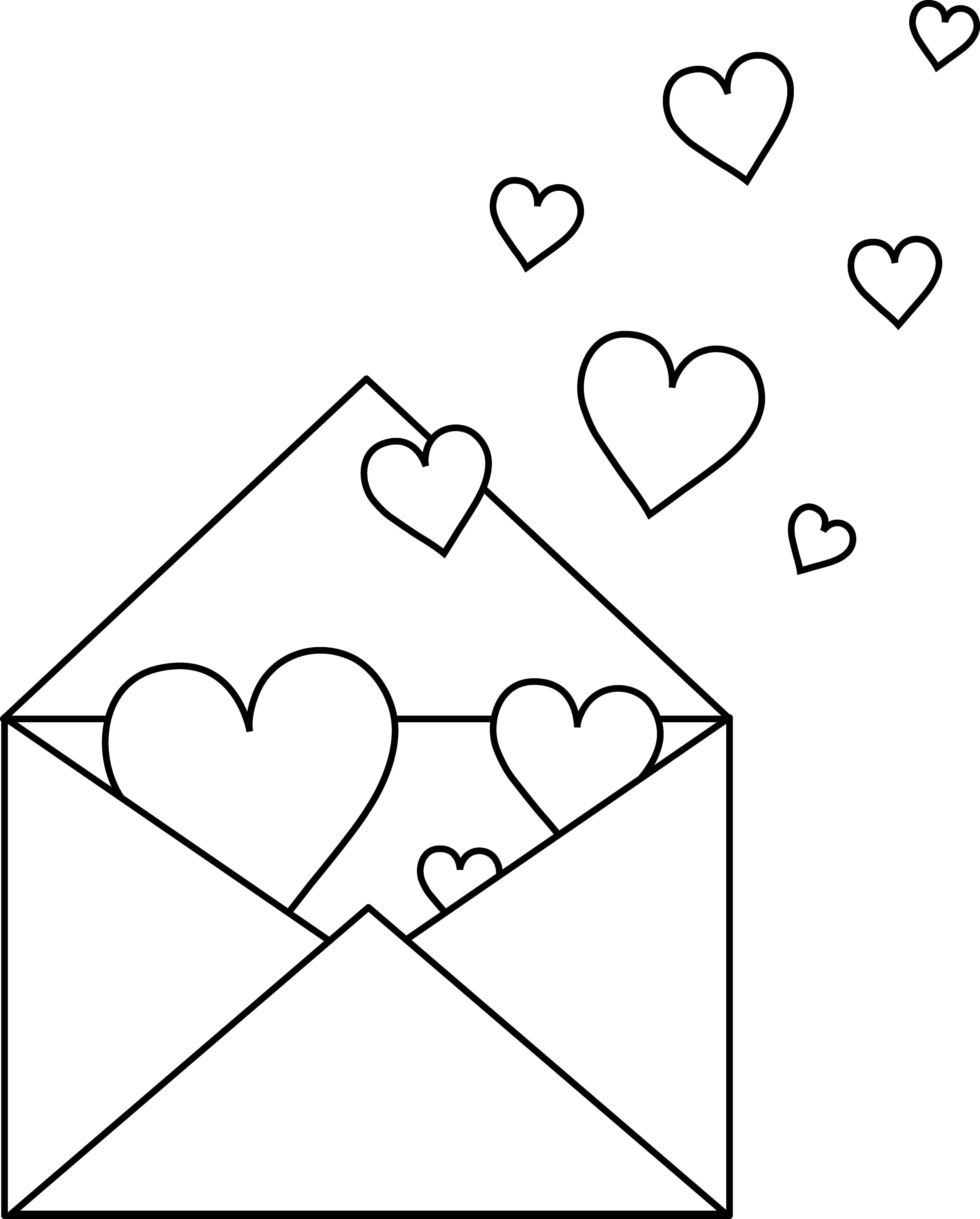 Colorable Love Letter Free Clip Art Clip Art Free Clip Art Coloring Pages