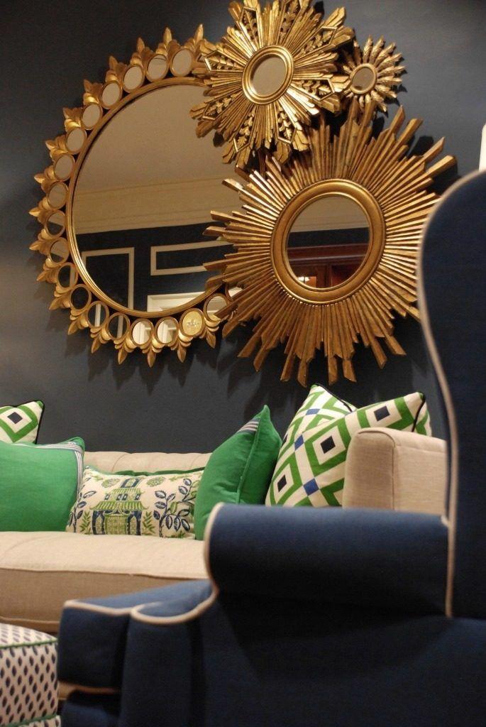 Back To School Makeover At The Pi Beta Phi House Nell Hills Wall Decor Living Room Sunburst Mirror Decor