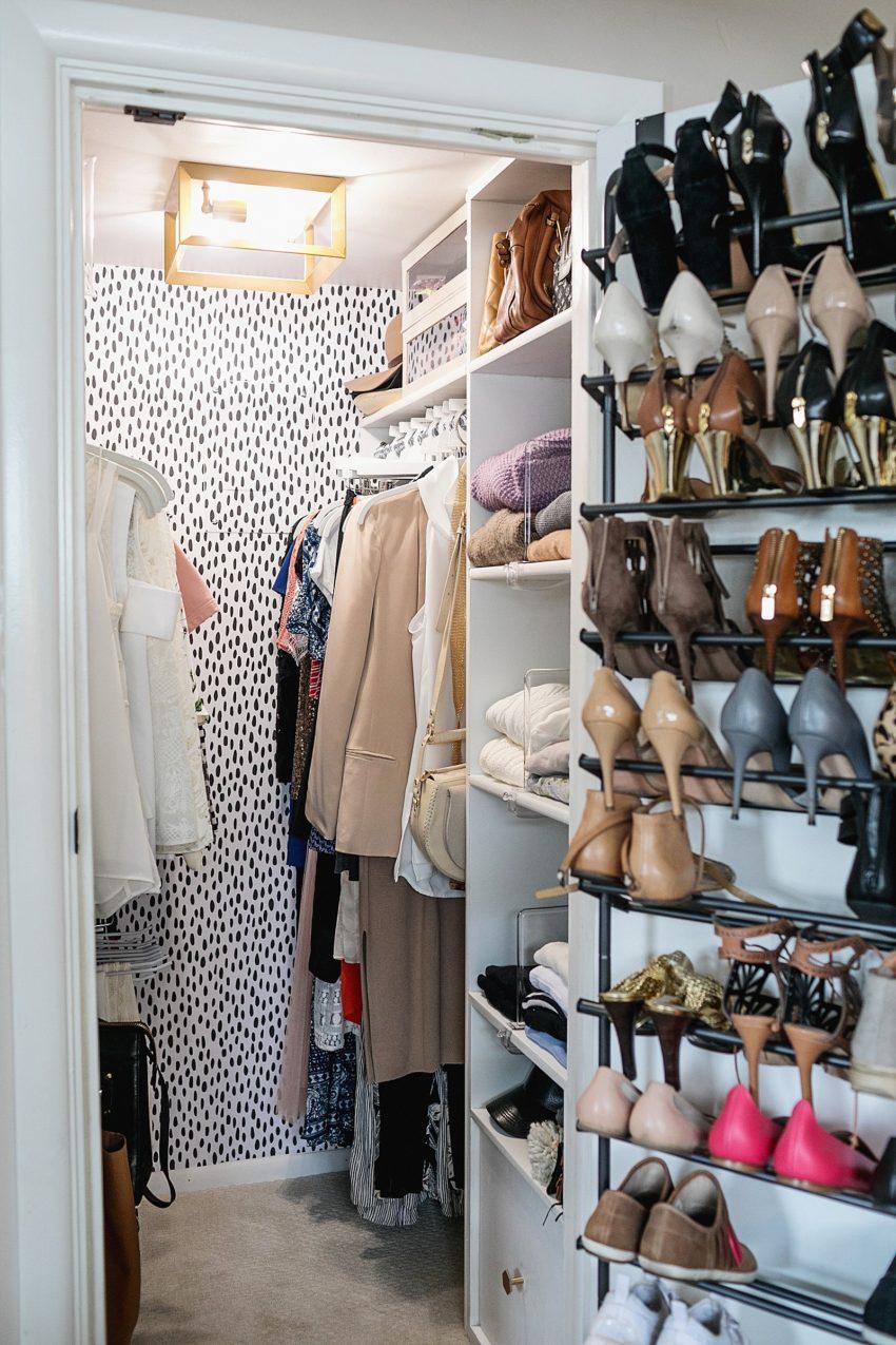 Removable Wallpaper in a Tiny Closet | Diana Elizabeth