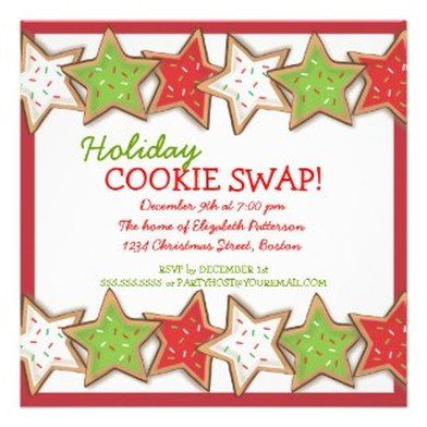 holiday cookie exchange party invitations   party ideas, Party invitations