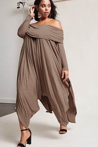 Forever 21 Plus Size Off-the-Shoulder Draped Dress   Also ...