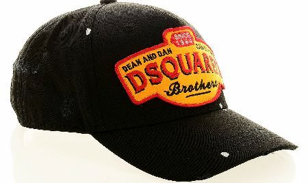 24f7fda0d94235 Dsquared Gabardine Brothers Baseball Cap Dsquared Gabardine Brothers  Baseball Cap is designed with a classic cap