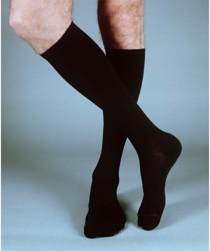 Ames Walker Style 100, Men's Extra Firm Support Compression Dress Socks 20-30 - Large - Black by Ames Walker. $12.99