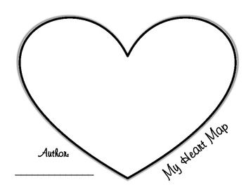 This Writing Heart Map is a great way for students to