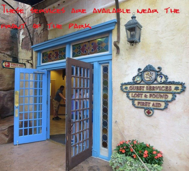 Guests services, Lost & Found and First Aid, at Universal's Islands of Adventure park - Top Tips for Islands of Adventure park at Universal Orlando in Florida at http://www.buildabettermousetrip.com/islands-of-adventure-tips/