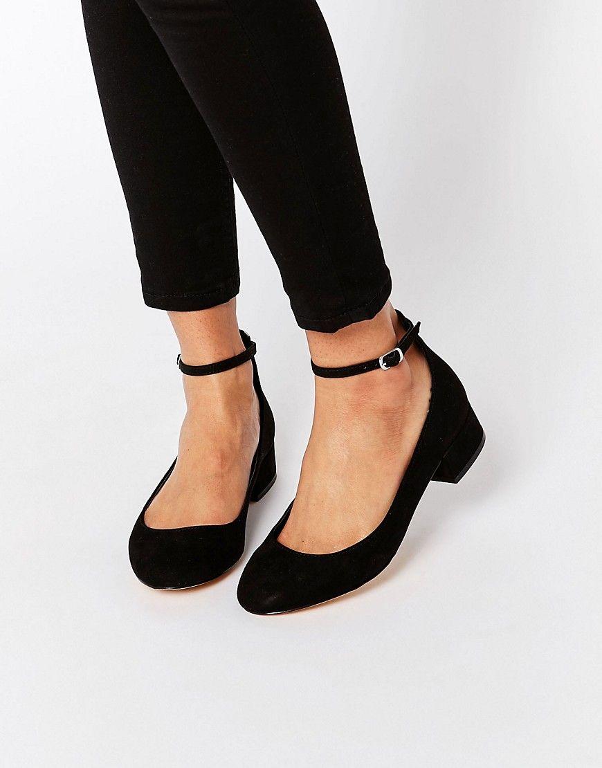Blink Ankle Strap Low Heeled Ballerina