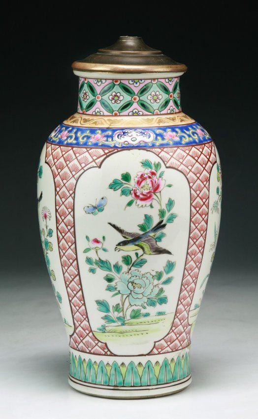 A Chinese Antique Famille Rose Porcelain Vase On East Asian Art