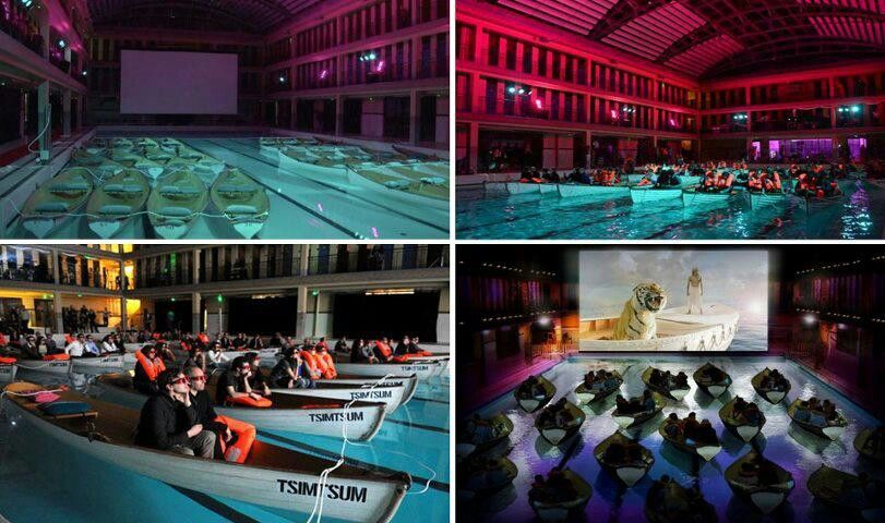 Life of pi floating boats screening in paris gadgets for Floating swimming pool paris