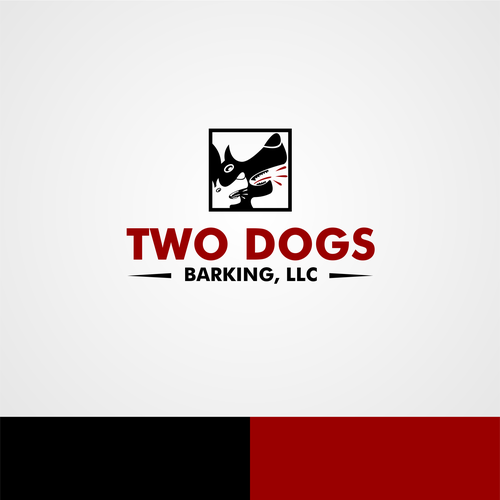 Two Dogs Barking Llc Two Dogs Barking Do You Have A Vision Lets See It Dog Barking Art Logo Company Logo