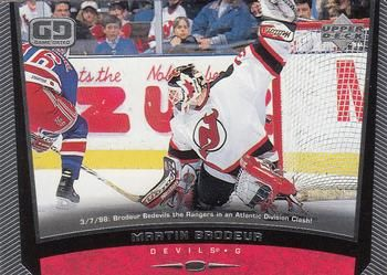 4ce86310a Trading Cards · 1998-99 Upper Deck  118 Martin Brodeur Front