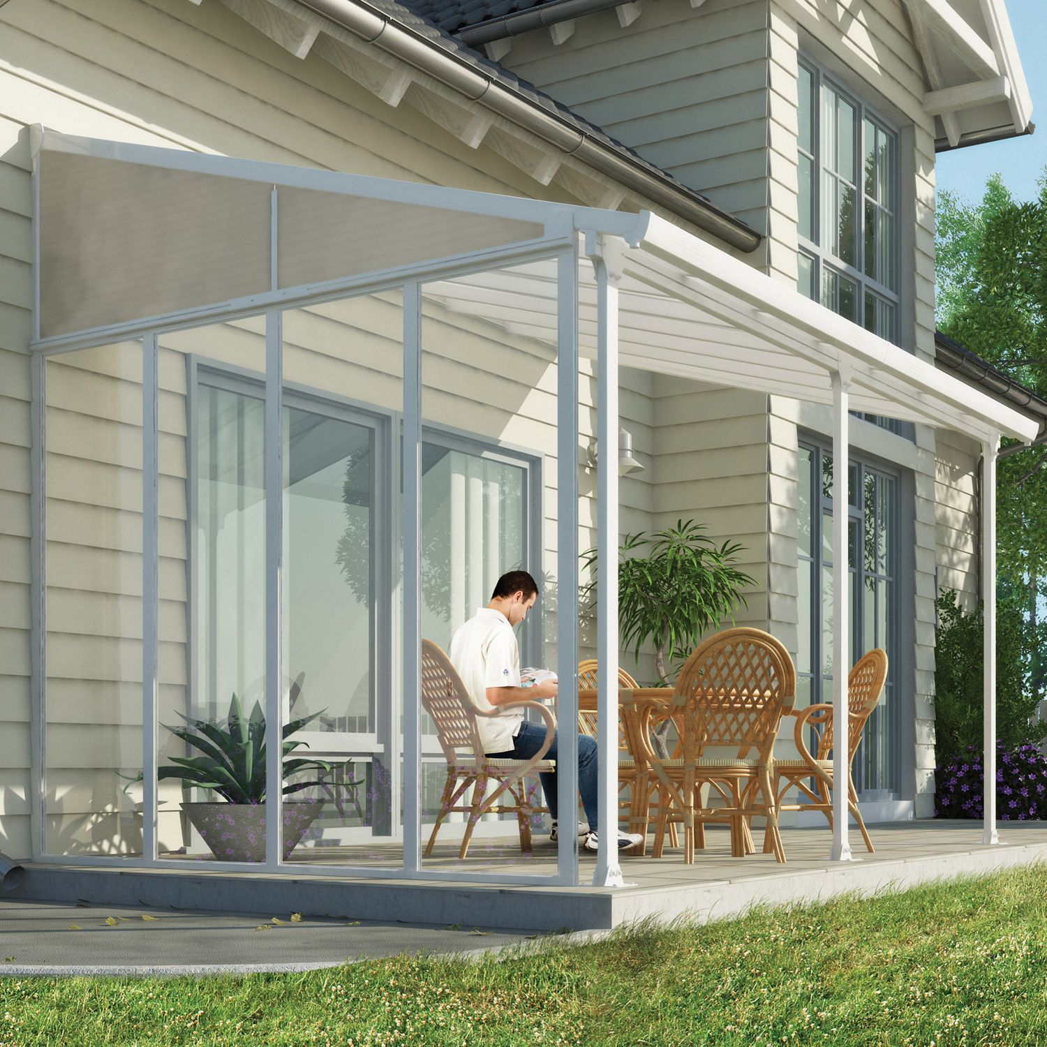 Palram Feria 10 Patio Cover Sidewall Kit Sam S Club