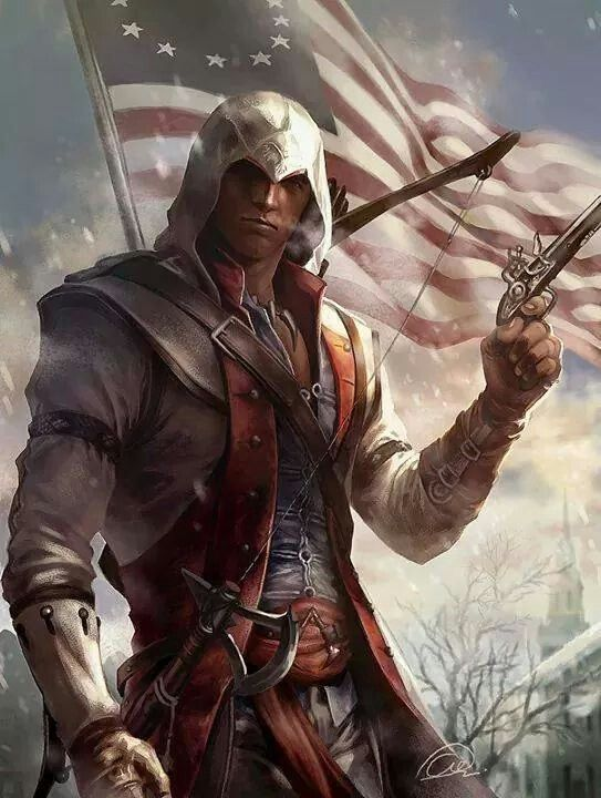 New Connor Fan Art From Assassins Creed 3 Assassins Creed Art