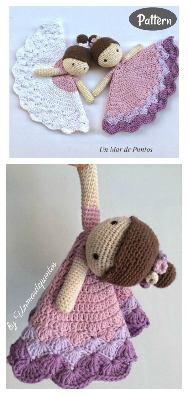 6 Doll Lovey Free Crochet Pattern and Paid