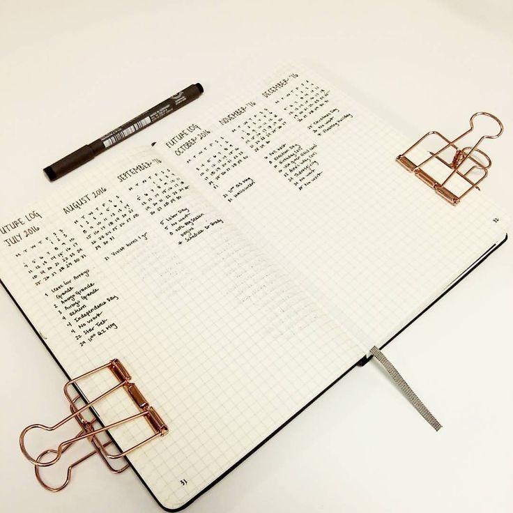 Alternative Bullet Journal Future Log Method 3 Months Per Page In