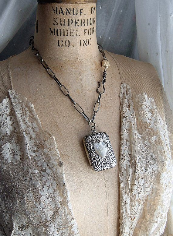 RESERVED for C Assemblage Antique Vesta Necklace Silver Plate Match Safe Pendant Heart Floral Heart Box Reliquary  Upcycled Jewelry -  Assemblage Antique Vesta Necklace Silver Plate Match Safe Pendant Heart Floral Heart Box Reliquary  - #Antique #Assemblage #bohojewelrydiy #Box #diyjewelryholder #Floral #Heart #Jewelry #jewleryorganizerdiy #Match #Necklace #Pendant #plate #Reliquary #RESERVED #Safe #Silver #Upcycled #upcycledjewelry #Vesta