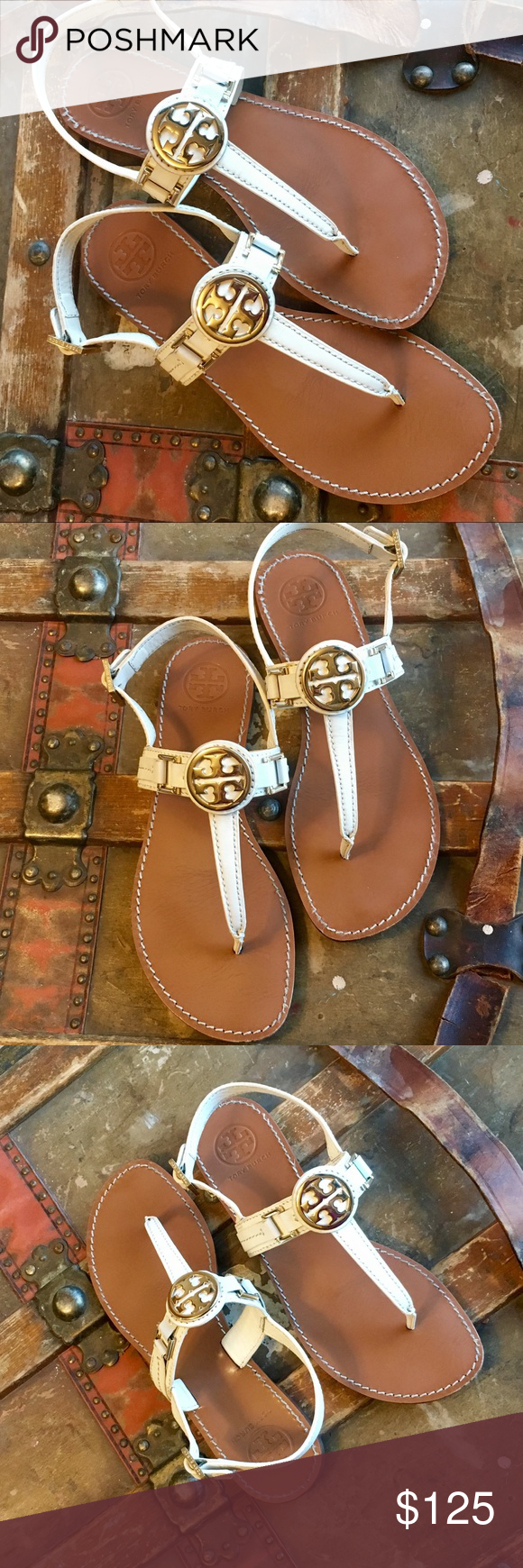 065698b4b168 Tory Burch Cassia   Bryce Sandals white 8.5 Miller Gorgeous Tory Burch  Cassia Flat Thong Sandals
