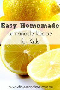 Easy Lemonade Recipe for Kids #easylemonaderecipe