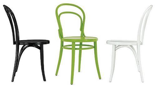 Bon Thonet+bentwood+chair Black+white+green
