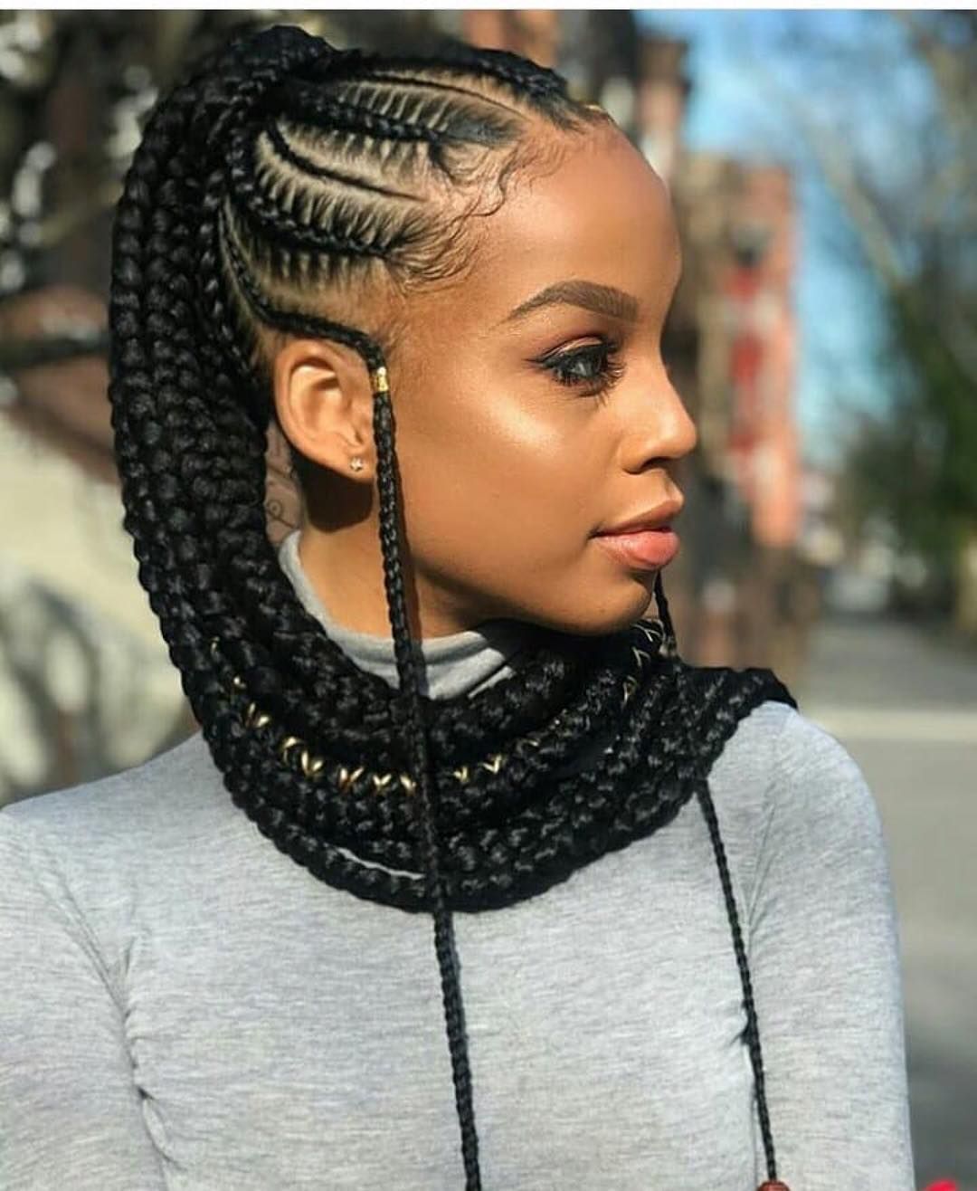 Ghanaianhairstyles Braided Ponytail Feedinbraids Braids By Braided Kitagirl921 Braided Ponytail Hairstyles Cornrow Hairstyles Braids For Black Hair