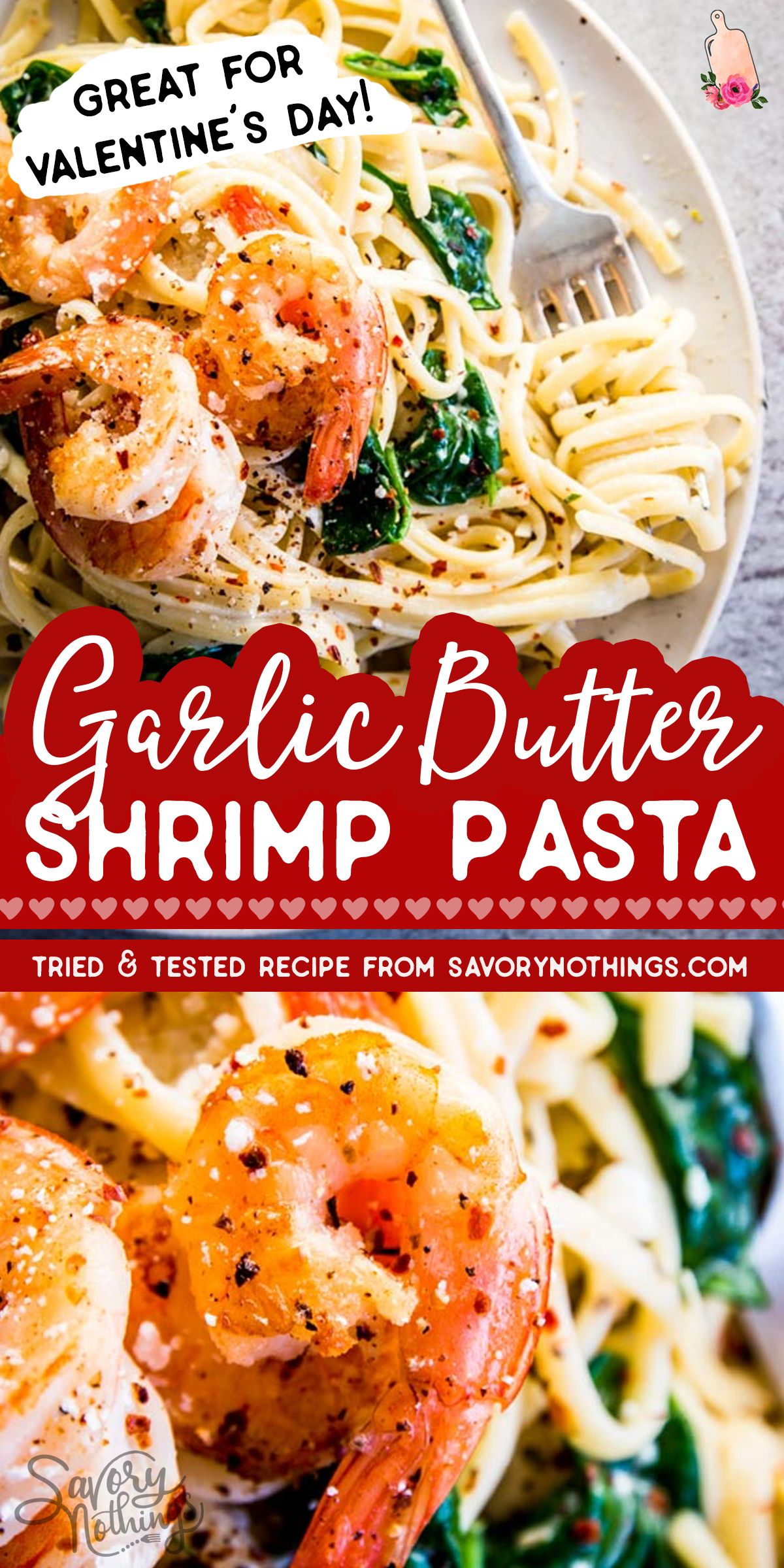 Quick And Easy Garlic Butter Shrimp Pasta In 2020 Garlic Butter Shrimp Pasta Shrimp Recipes For Dinner Night Dinner Recipes