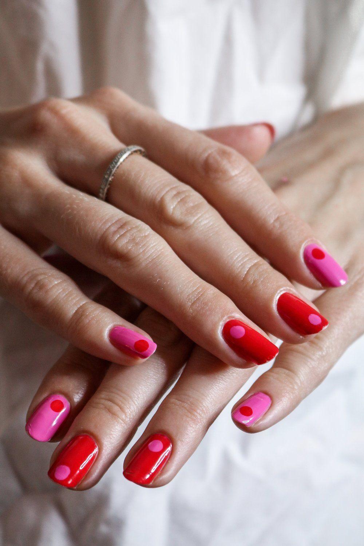 Hair  #nails long pink nails, yellow and pink nails, fall pink nails, ombre pink…