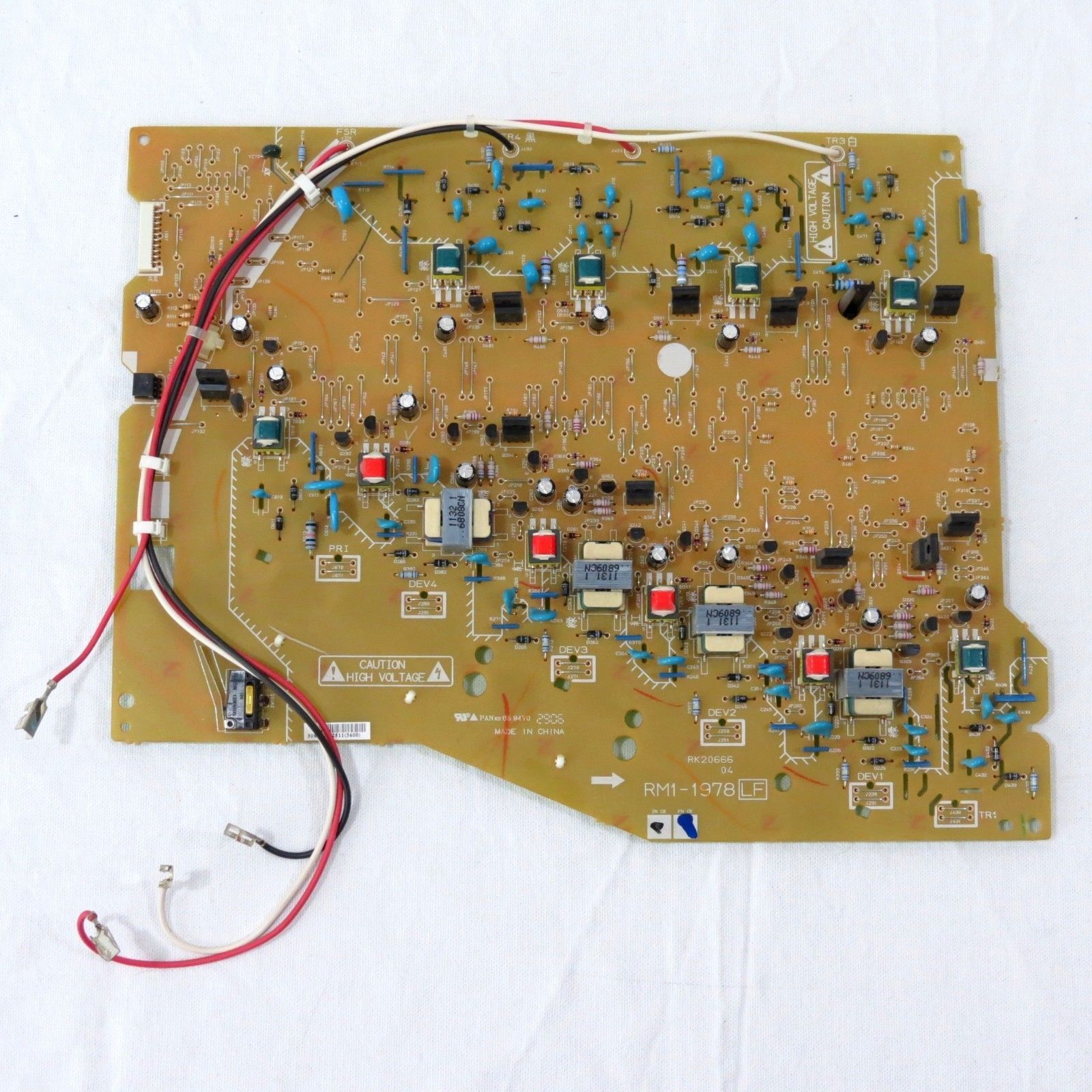 Genuine Hp Color Laserjet 2600n High Voltage Power Supply Board Rm1 1978