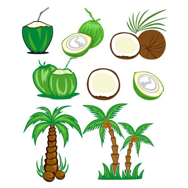 coconut tree cuttable design cut file vector clipart digital rh pinterest co uk coreldraw clipart files coreldraw clipart files