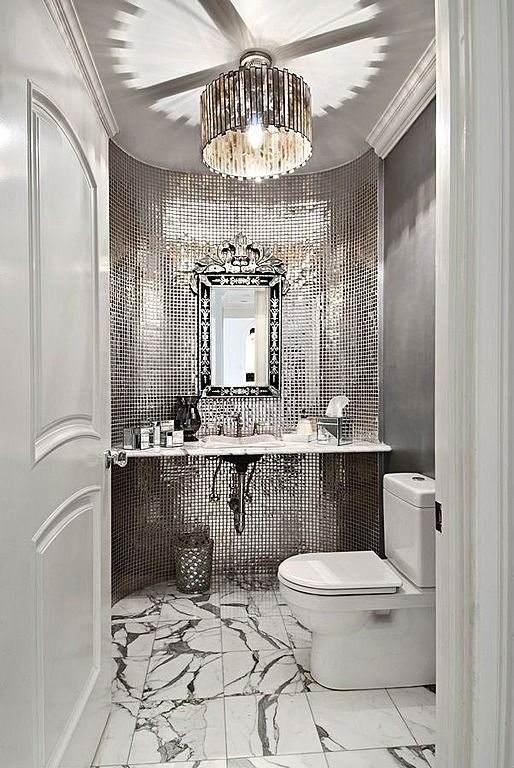 Art Deco Powder Room Found On Zillow Digs What Do You Think